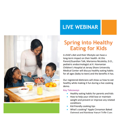 Spring Into Healthy Eating For Kids